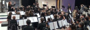 Oliver Middle School Intermediate Band performs its fall concert Oct. 1, 2012. (Photo by Lee Roberts)
