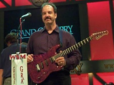 Michael Gregory plays at Grand Ole Opry in 2002