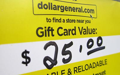 Dollar General donated a $25 gift card for each of the 91 guns the Metro Nashville Police collected Nov. 17, 2012. (Photo by Lee Roberts)