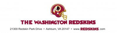 This is the Redskins Letterhead on the Daniel Snyder letter to the fans.