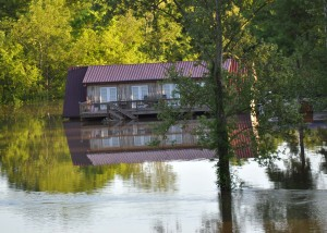 Waters reach this home in Cheatham County, Tennessee during the May 2010 Flood. (Courtesy Photo)